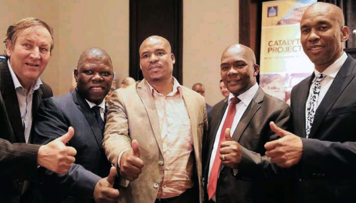 From left: Andrzej Kiepiela, a marketing consultant, Sbu Sithole, city manager, Stanley Xulu, eThekwini chief whip, James Nxumalo, eThekwini mayor, and Moses Thembe, co-chairman of KZN Growth coalition.